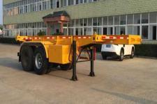 醒狮7.7米31.5吨2轴危险品罐箱骨架运输半挂车(SLS9351TWY)