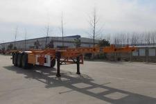国世华邦12.4米33.2吨3轴危险品罐箱骨架运输半挂车(XHB9400TWY)