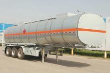 骏通11米33.2吨3轴铝合金易燃液体罐式运输半挂车(JF9408GRYB)