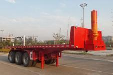 鸿盛业骏8米32.5吨3平板自卸半挂车