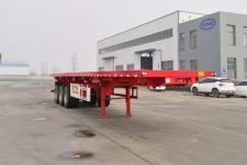 鑫万荣12米32.2吨3轴平板自卸半挂车(CWR9402ZZXP)
