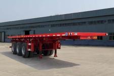 鑫万荣10.5米32.6吨3轴平板自卸半挂车(CWR9401ZZXP)