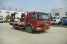 东风多利卡单桥黄牌15吨挖机平板拖车13607286060