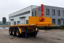 巨运8米32.5吨3轴平板自卸半挂车(LYZ9401ZZXP)