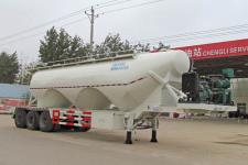 程力威12.1米29.7吨3轴中密度粉粒物料运输半挂车(CLW9403GFL)