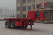 坤博7.7米29.5吨2轴平板自卸半挂车(LKB9350ZZXP)