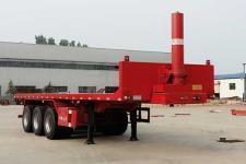 沃顺达9.6米31.5吨3轴平板自卸半挂车(DR9400ZZXP)