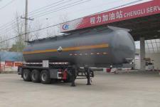 程力威10.1米29.5吨3轴腐蚀性物品罐式运输半挂车(CLW9406GFWB)
