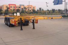 华昌10.4米35吨3轴危险品罐箱骨架运输半挂车(QDJ9400TWY)