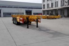 中梁寶華12.2米33.5噸3軸危險品罐箱骨架運輸半掛車(YDA9400TWY)