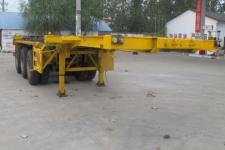 程力威9.7米34.5吨3轴危险品罐箱骨架运输半挂车(CLW9402TWY)
