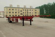 山通12.4米11.7吨1轴空载集装箱运输半挂车(SGT9150TJZ)