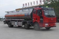 解放j6小三轴铝合金运油车