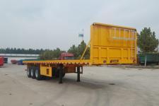 儒源8米35.5吨3轴平板运输半挂车(ZDY9402TPB)