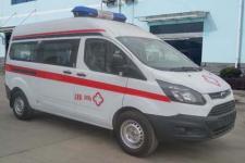 江铃福特新全顺V362柴油中轴中顶转运型救护车