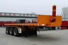 魯際通7.5米32.3噸3軸平板自卸半掛車(LSJ9400ZZXP)