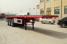 郓腾12米33.5吨3轴平板运输半挂车(HJM9400TPB)