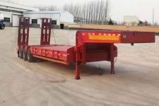 鸿盛业骏12.5米24.3吨6轴低平板半挂车(HSY9380TDPXZ)