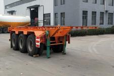 同强7.5米34.8吨3轴危险品罐箱骨架运输半挂车(LJL9402TWY)