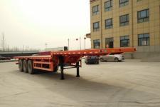 郓腾12米33.5吨3轴平板运输半挂车(HJM9400TPBE)