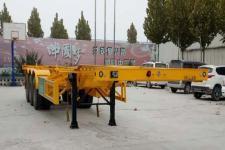 郓腾12.2米34吨3轴集装箱运输半挂车(HJM9403TJZ)