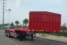 锣响12米33.8吨3轴平板运输半挂车(LXC9401TPBE)