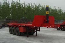 中梁宝华8.5米32吨3轴平板自卸半挂车(YDA9400ZZXP)