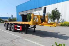 中集9米33吨3轴平板自卸半挂车(ZJV9402ZZXPQD)
