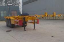 中基华烁12.2米34.5吨3轴危险品罐箱骨架运输半挂车(XHS9400TWY)