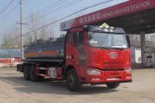 国五解放J6后八轮腐蚀性危险物品运输车价格