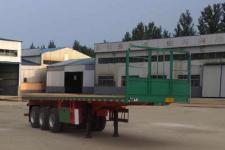 鸿盛业骏12米33.4吨3轴平板运输半挂车(HSY9400TPB)