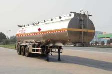 华威驰乐牌SGZ9402GYYD型铝合金运油半挂车