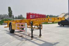 轩畅12.4米11.8吨1轴空载集装箱运输半挂车(JFH9150TJZ)