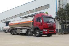 解放J6前四后八25吨铝合金运油车
