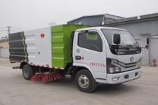 东风国六5方新型扫路车炎帝牌SZD5075TSL6型扫路车