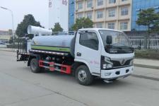 国六东风5吨洒水车旺龙威牌WLW5070GPSE型绿化喷洒车