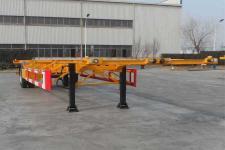 中集12.3米12.1噸1軸空載集裝箱運輸半掛車(ZJV9150TJZQD)