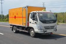 國五福田奧鈴4米2易燃氣體廂式運輸車價格