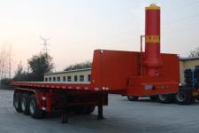 恒通梁山9.6米31.5吨3轴平板自卸半挂车(CBZ9401ZZXP)