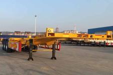 中集12.5米34.5吨3轴集装箱运输半挂车(ZJV9405TJZQDX)