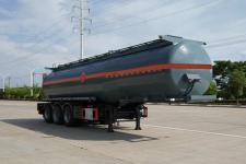 程力威10.9米31.6吨3轴易燃液体罐式运输半挂车(CLW9402GRYB)