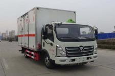福田奧鈴國六4米2藍牌廢電池廢機油廂式運輸車價格