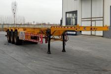 庄宇14米34.2吨3轴危险品罐箱骨架运输半挂车(ZYC9402TWY)
