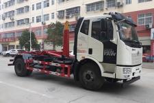國六解放J6車廂可卸式垃圾車