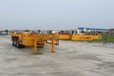楚勝12.5米33.6噸3軸危險品罐箱骨架運輸半掛車(CSC9404TWY)