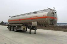 楚胜11.5米32.7吨3铝合金易燃液体罐式运输半挂车