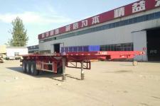 梁義12米32.5噸3軸平板自卸半掛車(TYK9405ZZXP)