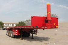 华鑫联合8.5米34.2吨3轴平板自卸半挂车(HXL9402ZZXP)