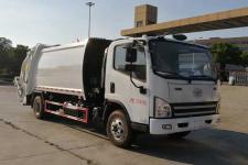 國五解放壓縮式垃圾車13607286060