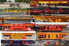 同強牌LJL9400TWY型危險品罐箱骨架運輸半掛車圖片